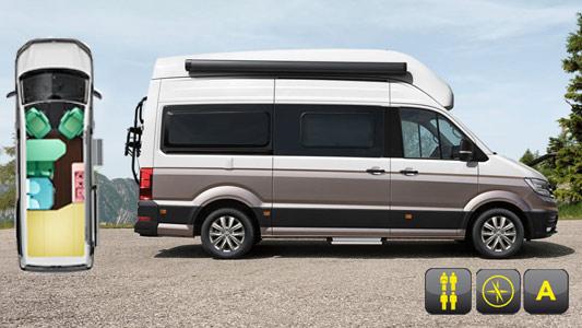 Europcar | Camper VW T6 California Beach & Coast for hire