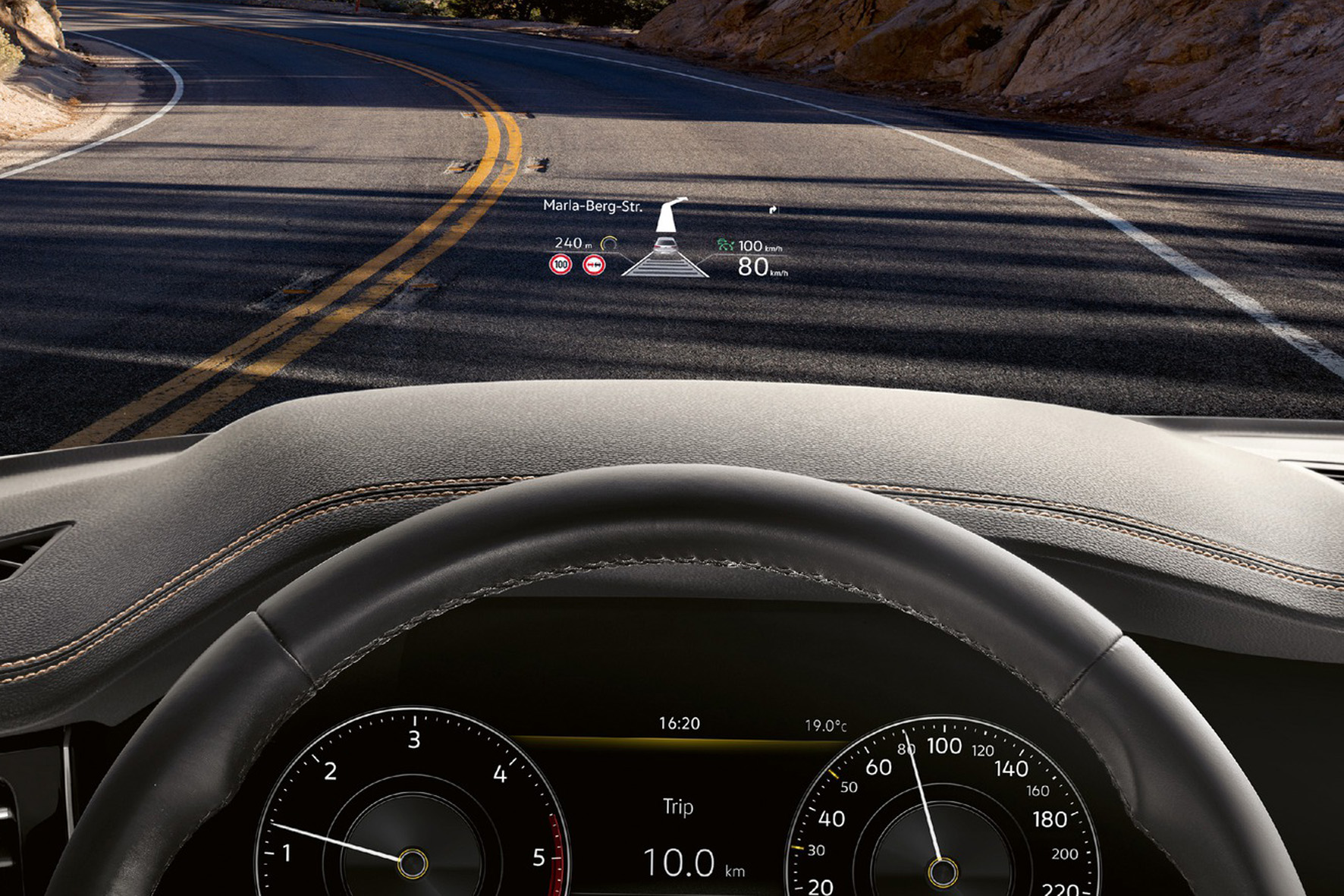 VW Touareg Head-up Display